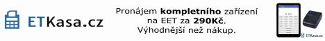 www.ETKasa.cz - pronájem kompletní kasy na EET za 290Kč měsíčně